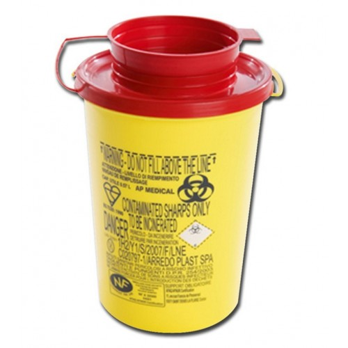 Box für die entsorgung der nadeln 0,5 L.