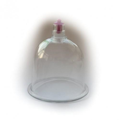 Tasse aus glas für die behandlung des gesichts