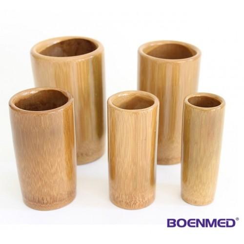 Les tasses dans le bambou, 5 pcs
