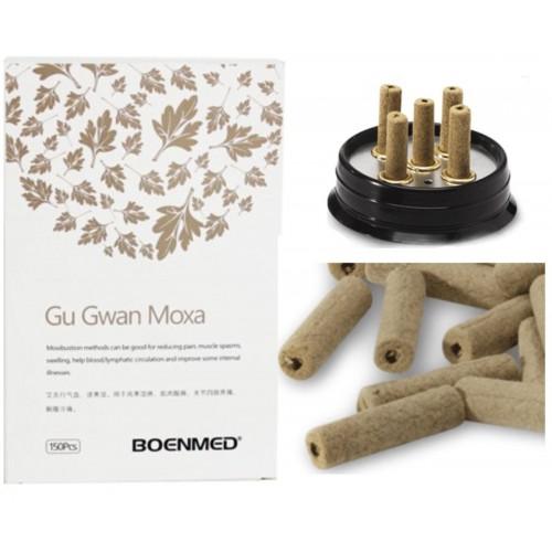 Los cilindros de moxa + moxatore Gu Gwan