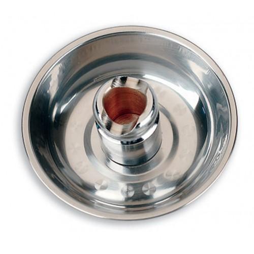 Spegni moxa in acciaio con piatto