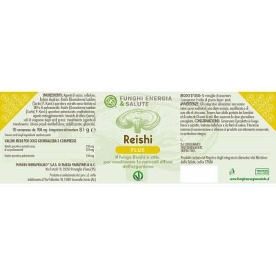 Etichetta Reishi Plus compresse