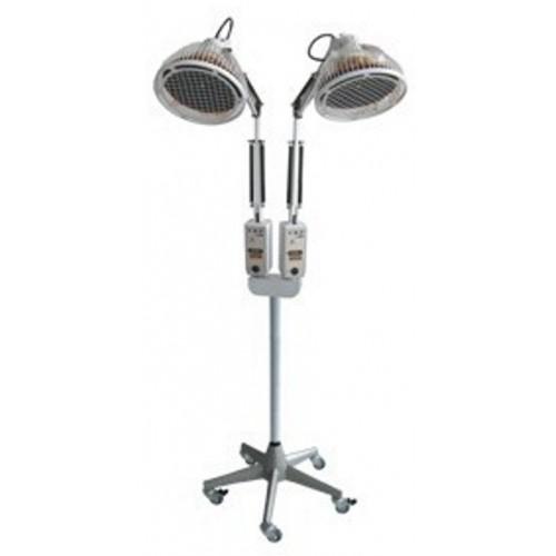 Lámpara de infrarrojos con stand - Temporizador digital de doble cabeza